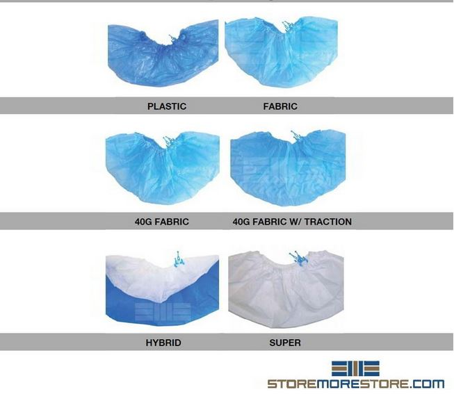 different types of disposable shoe covers