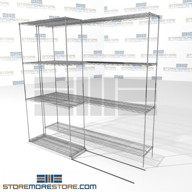 Double Deep Lateral Sliding Wire Shelving