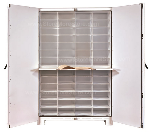 Open Herbarium Cabinets Storing Plant Specimens