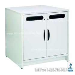 single white satellite mail center console