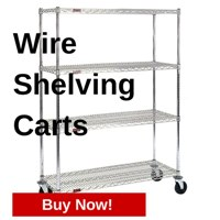 Buy Wire Shelving Carts at StoreMoreStore