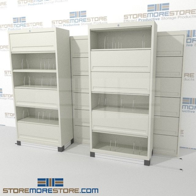 Mobile Flipper Door Cabinets Hide Clutter
