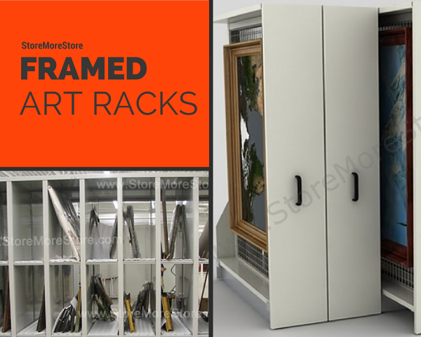 framed art racks roll-out and stationary