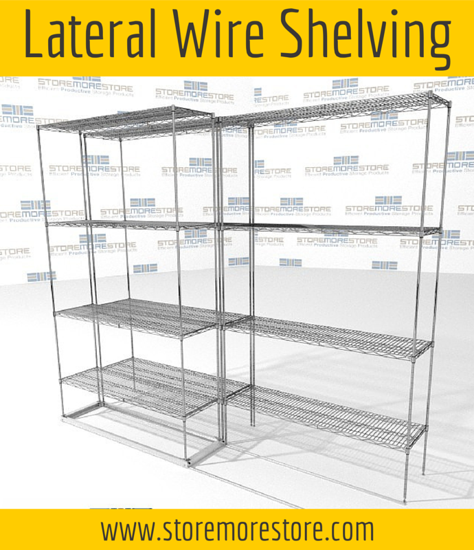 lateral wire sliding mobile shelving
