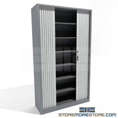 rolling door cabinets