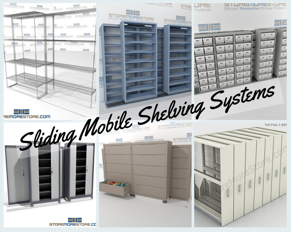 sliding mobile shelving systems