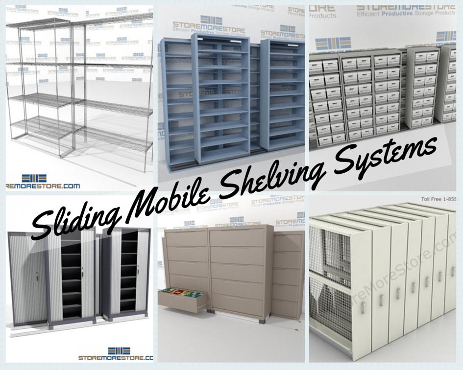 sliding mobile shelving systems