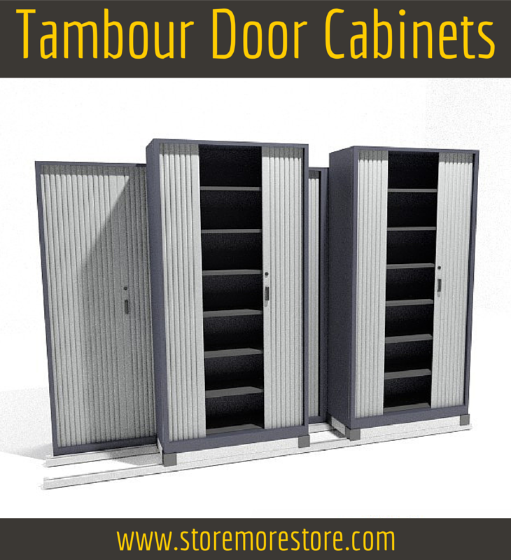 tambour door cabinets sliding mobile system