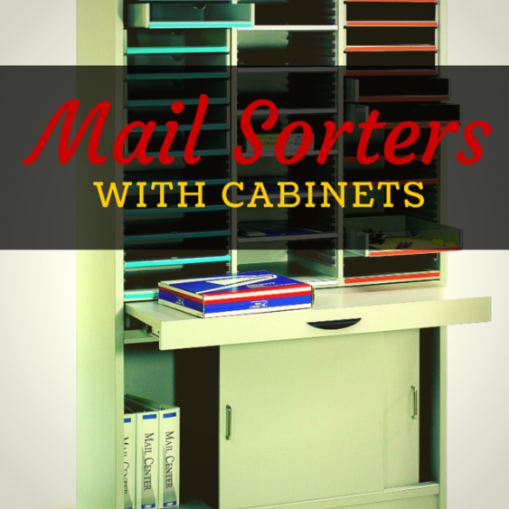mail sorters with cabinets for office supplies