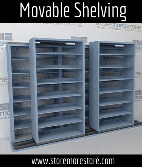 movable shelving for letter legal files and boxes