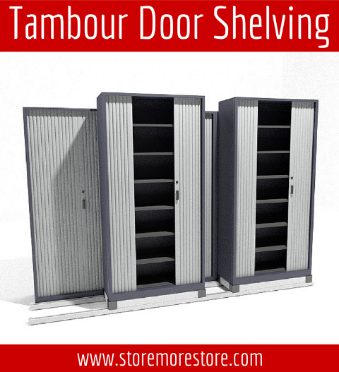 tambour door shelving