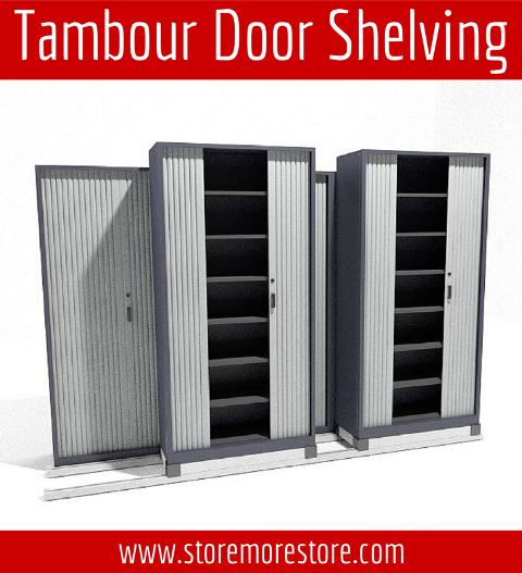 tambour door shelving