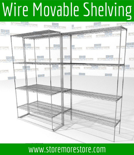 wire movable shelving