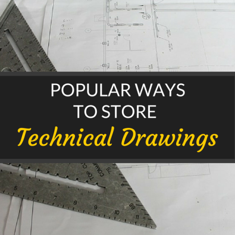 popular ways to store technical drawings