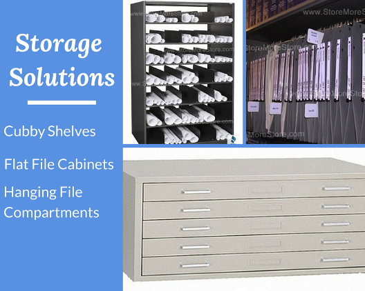 technical drawing storage solutions