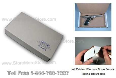 handgun storage box for police firearm storage
