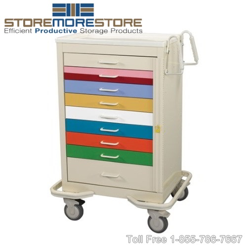 pediatric emergency carts with Broselow-Tape drawers