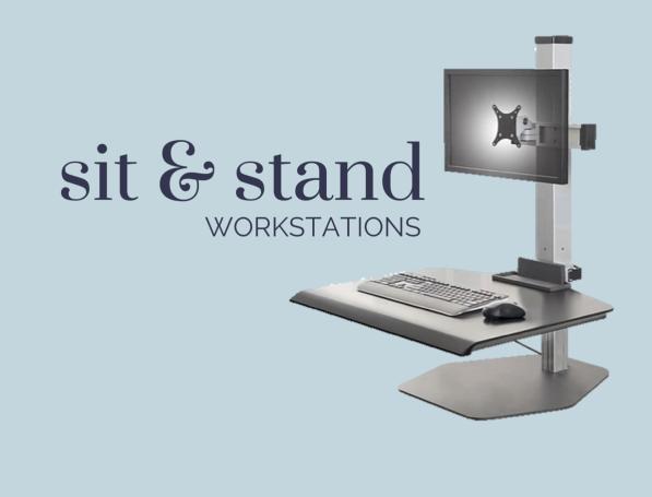 ergonomic adjustable sit & stand workstations