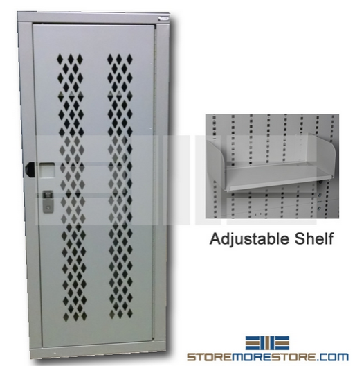 police ammo storage cabinet with adjustable shelves