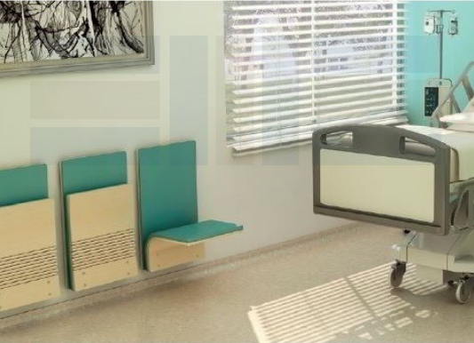 patient room wall-mounted seats