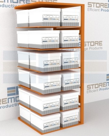 box shelving for inactive records adder unit