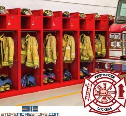 storing firefighter gear in turnout lockers