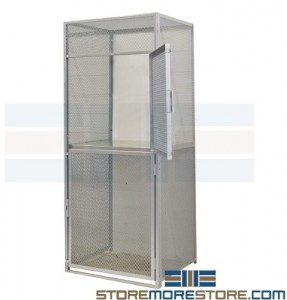 wire mesh bulk lockers