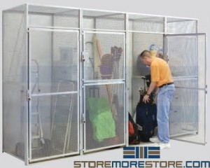 wire partition lockers for apartment tenant storage