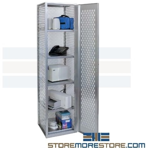 all welded mesh ventilated equipment lockers cabinets