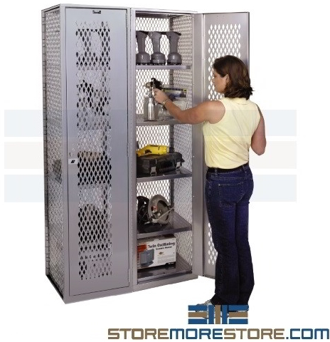 high visibility mesh ventilated lockers equipment tools chemicals
