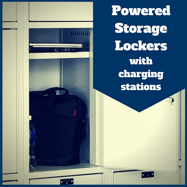 Powered Storage Lockers with charging stations