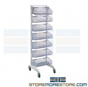 racks carts with wire baskets promote cleanliness