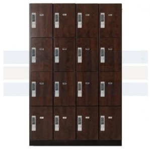 wood laminate lockers with keyless locks