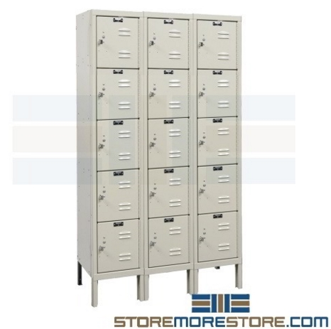 3-wide box lockers for small personal storage
