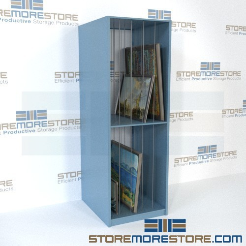museum art gallery painting storage with dividers