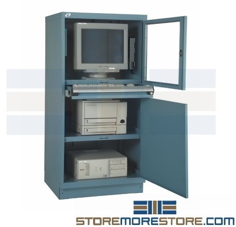 computer carts for warehouse dust protection
