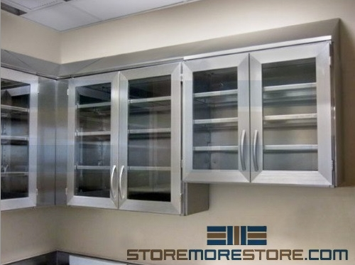 stainless steel wall cabinets for sterile storage