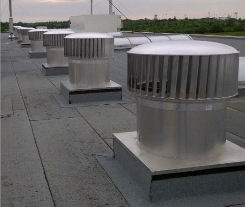 wind driven exhaust roof turbines