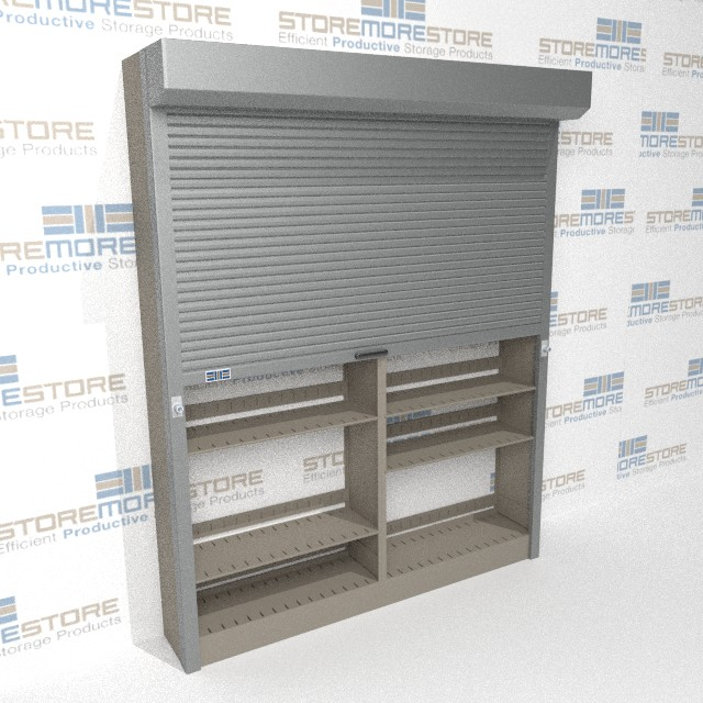 automatic locking doors secure storage