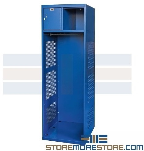 athletic team gear lockers with lockable compartment