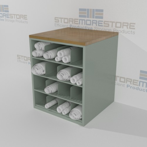 counter height rolled plan storage cabinets