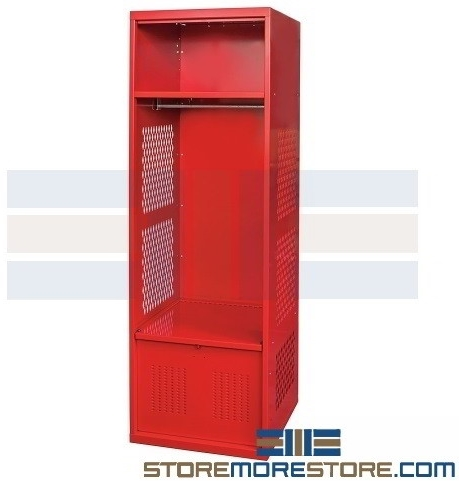 gear lockers with overhead shelf lower compartment