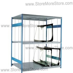 specialty storage racks storing automotive parts