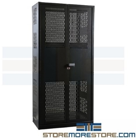 vented heavy duty industrial cabinet with expanded metal