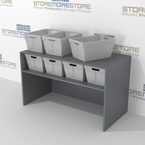 bulk mail sorter station flat shelves