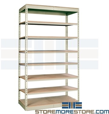 heavy duty boltless industrial shelves