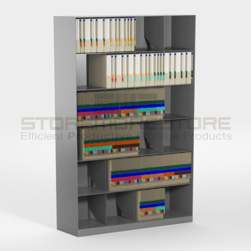 slanted file shelving