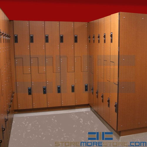 bacteria resistant phenolic plastic lockers