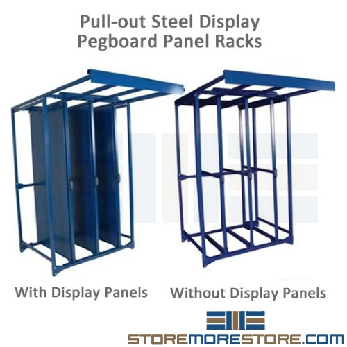 pegboard sliding tool display panel racks