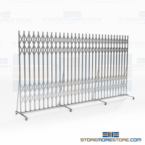 portable folding security gates